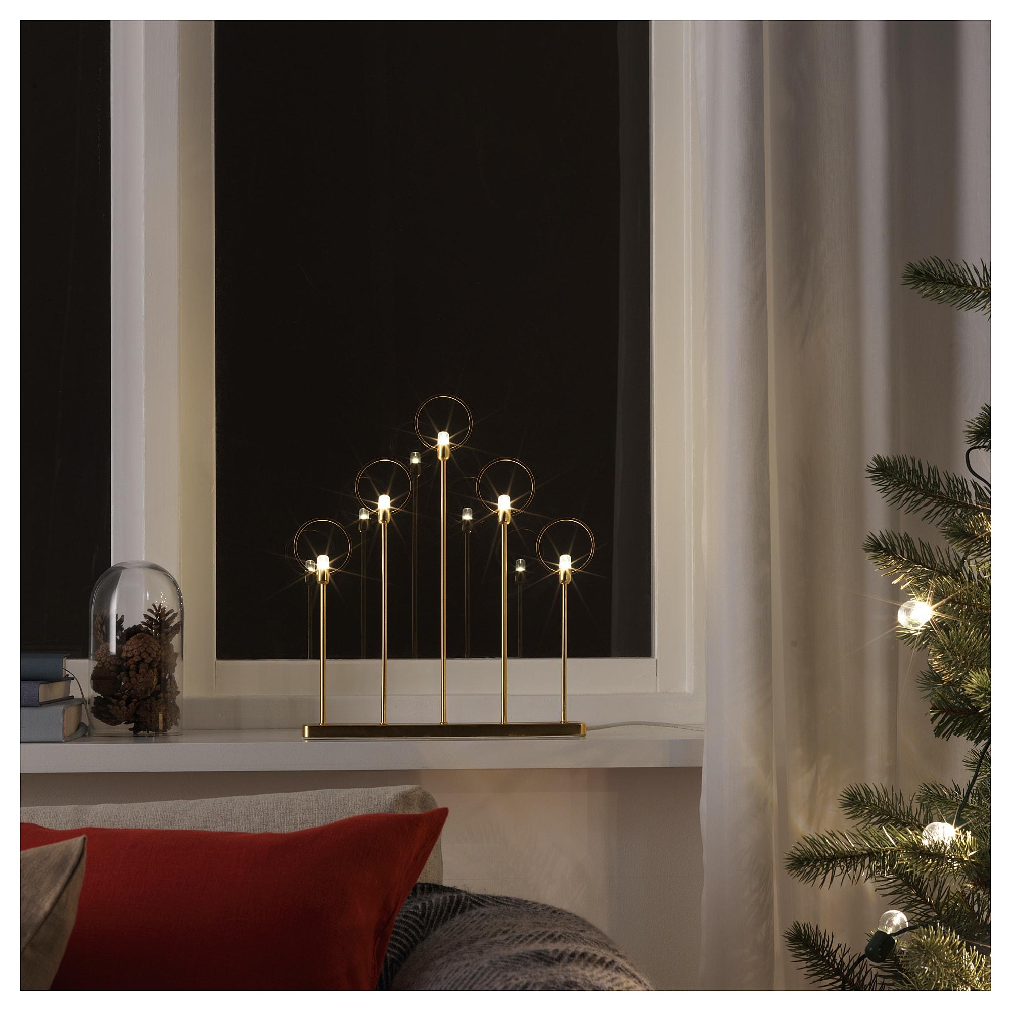 Светодиодный канделябр, 5 ламп СТРОЛА желтая медь артикуль № 904.067.41 в наличии. Онлайн каталог IKEA Минск. Быстрая доставка и монтаж.
