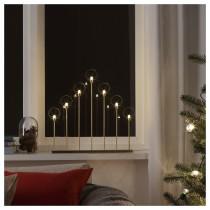 Светодиодный канделябр, 7 ламп СТРОЛА желтая медь артикуль № 204.067.30 в наличии. Online сайт IKEA Беларусь. Недорогая доставка и соборка.