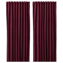 Затемняющие гардины, 1 пара САНЕЛА темно-красный артикуль № 504.140.31 в наличии. Онлайн сайт IKEA Беларусь. Недорогая доставка и соборка.