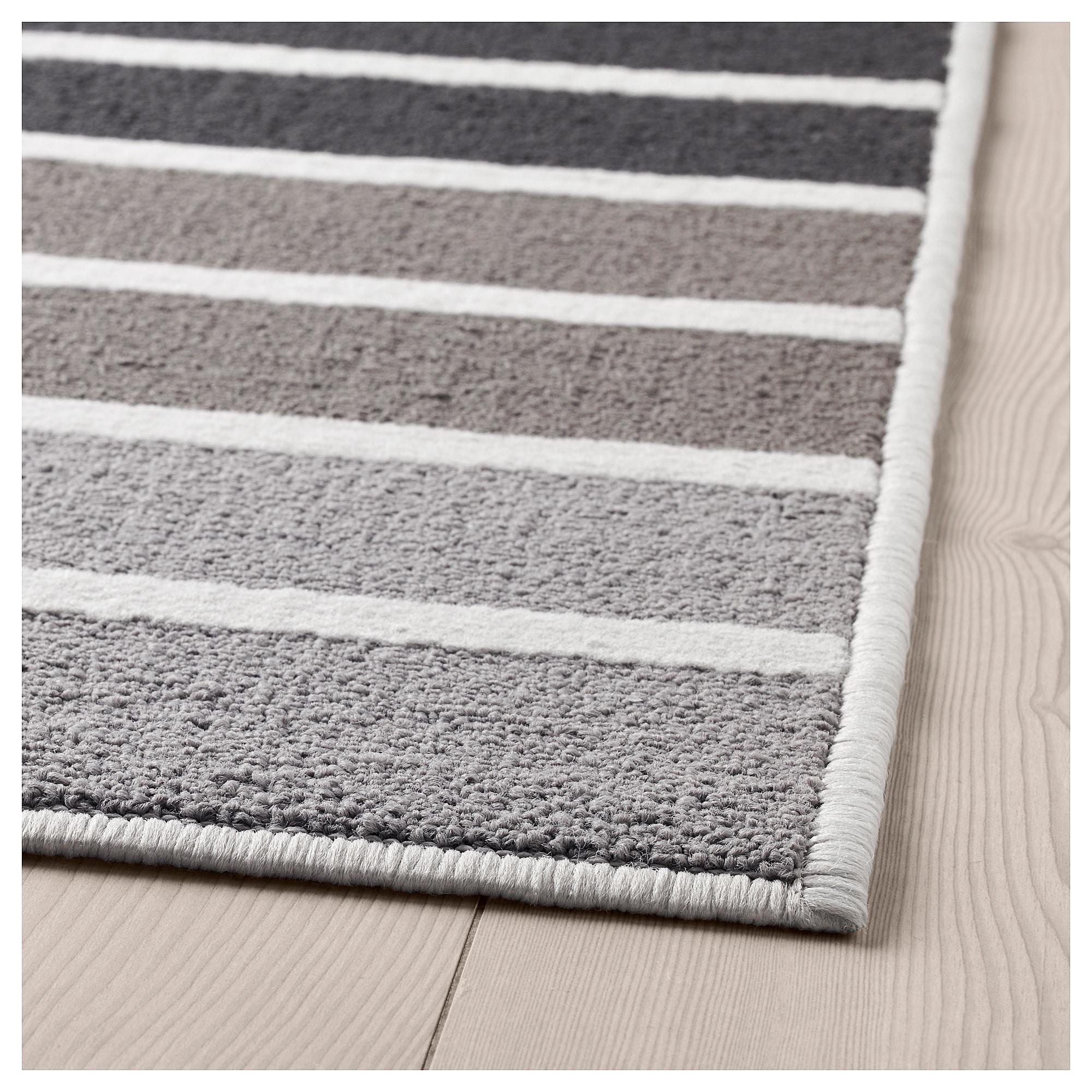 Ковер, короткий ворс ЛЮМСОС, серый, разноцветный (120×180 см)
