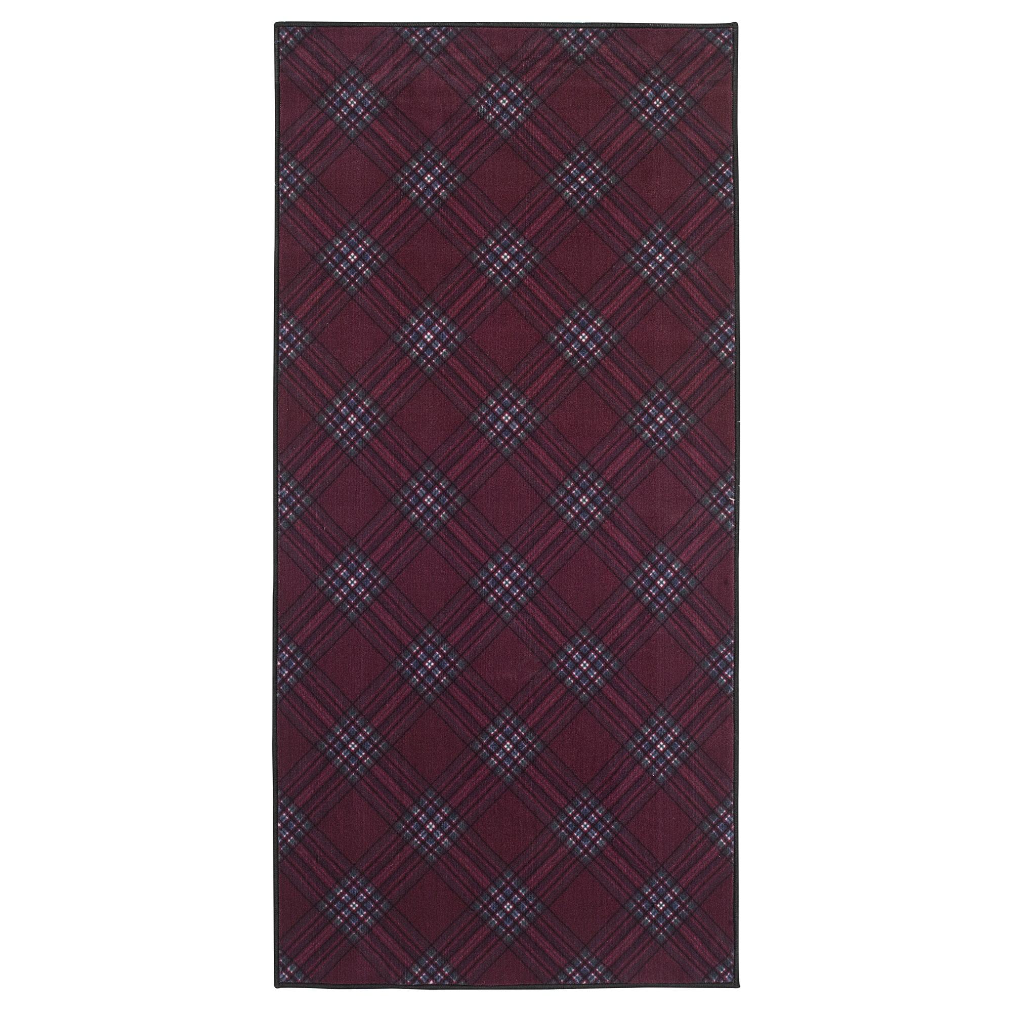 Ковер, короткий ворс ВИНТЕР 2018, темно-красный (75×150 см)