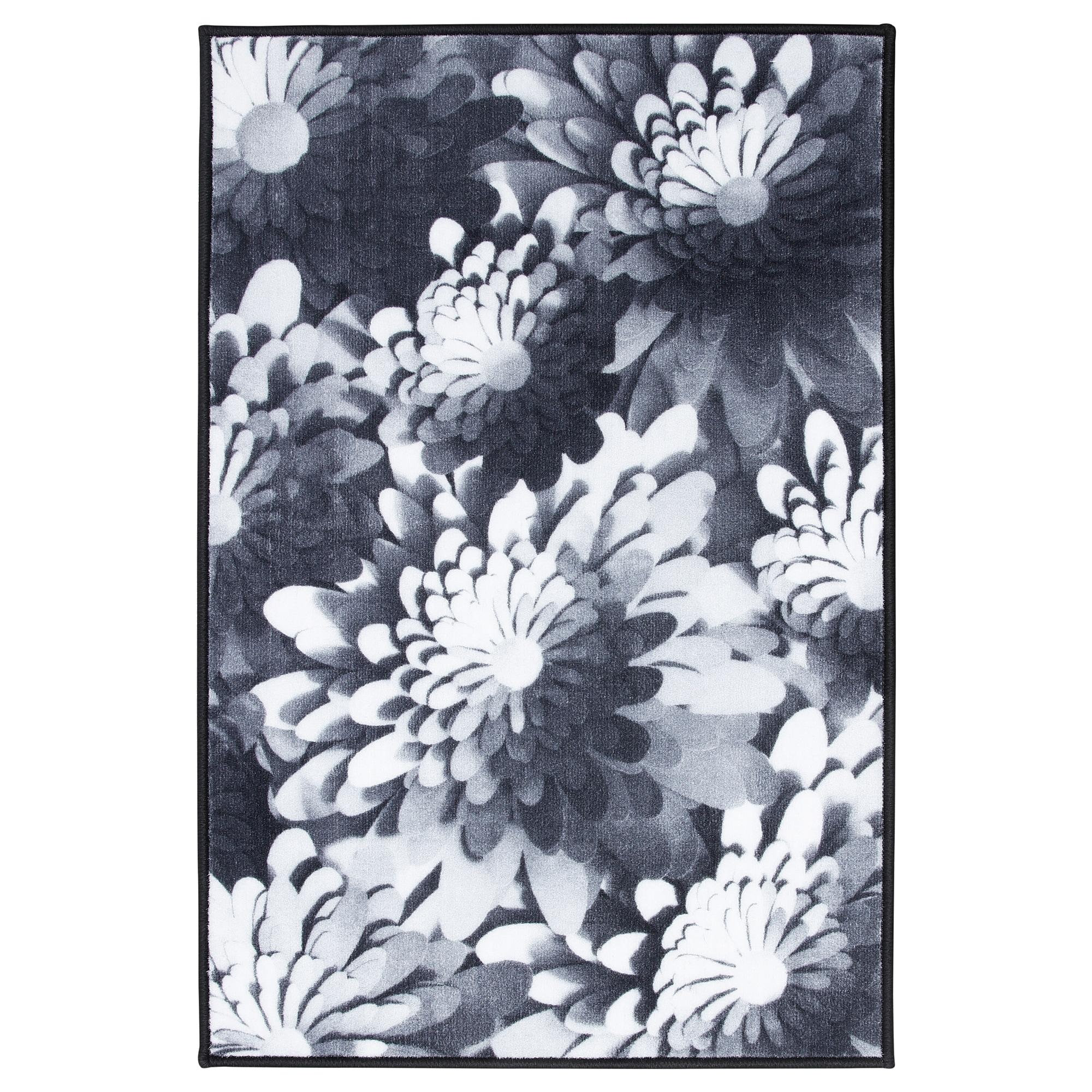Ковер, короткий ворс ВИНТЕР 2018, черный/белый (60×90 см)