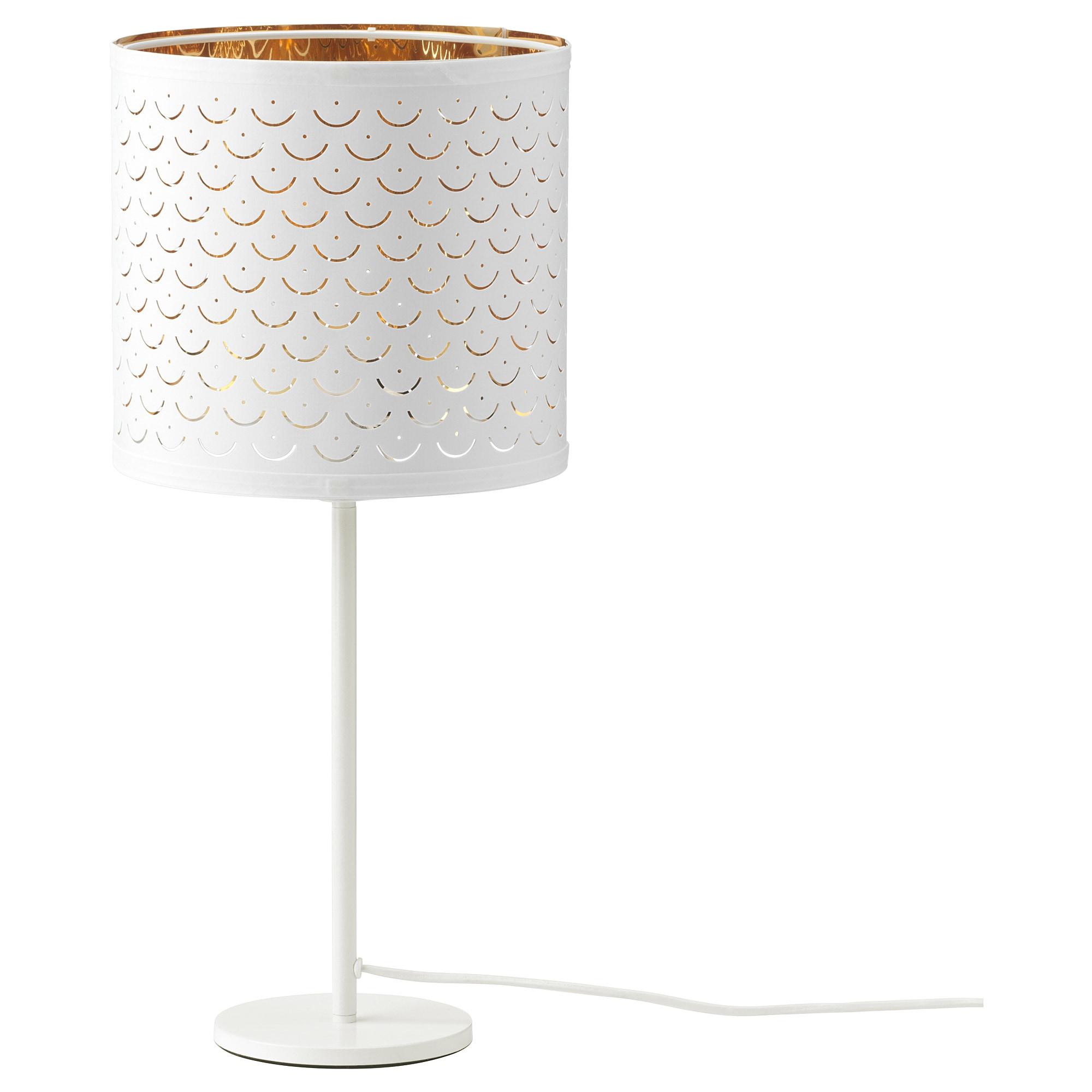 Лампа настольная НИМО / РОДД, белый латунь, белый (24/35 см)