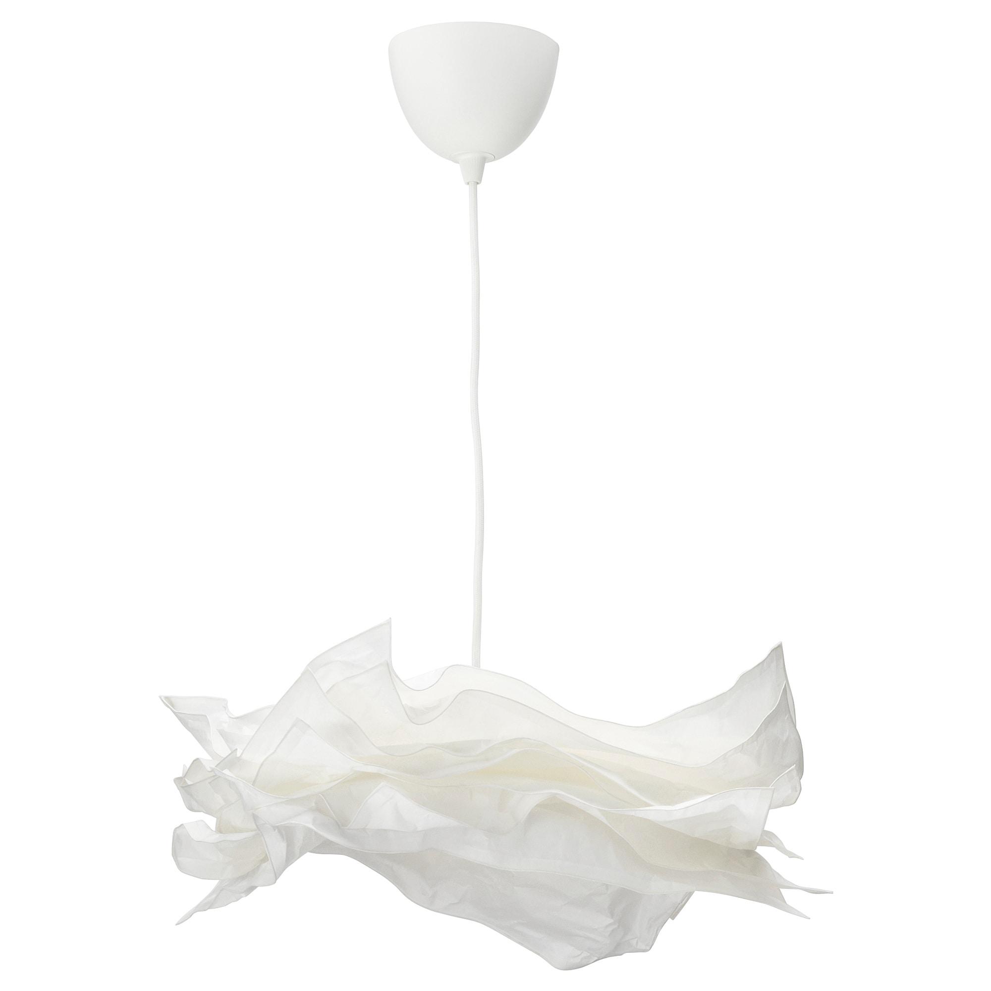 Подвесной светильник КРУСНИНГ / СЕКОНД, белый, текстиль белый (43 см)