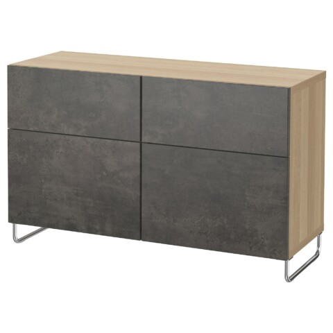 Комбинация для хранения с дверцами, ящиками БЕСТО темно-серый артикуль № 092.767.06 в наличии. Онлайн магазин IKEA Беларусь. Быстрая доставка и монтаж.