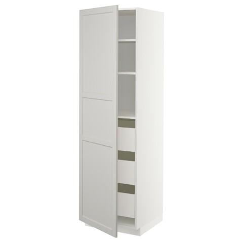 Высокий шкаф с ящиками МЕТОД / МАКСИМЕРА светло-серый артикуль № 492.730.27 в наличии. Online магазин IKEA РБ. Недорогая доставка и соборка.