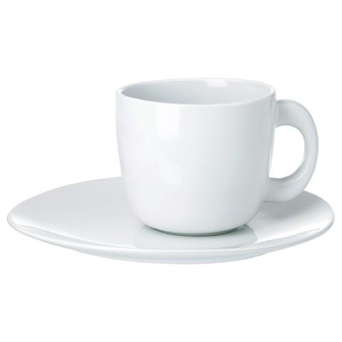 Чашка с блюдцем СОММАР 2019 белый артикуль № 504.192.60 в наличии. Онлайн каталог IKEA Беларусь. Быстрая доставка и монтаж.
