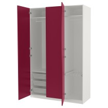 Гардероб ПАКС темно-красный артикуль № 492.694.31 в наличии. Online сайт IKEA Беларусь. Недорогая доставка и установка.