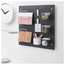 Настенная панель, комбинация СКОДИС черный артикуль № 292.960.20 в наличии. Интернет сайт IKEA Беларусь. Быстрая доставка и соборка.