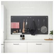 Настенная панель, комбинация СКОДИС черный артикуль № 392.960.05 в наличии. Онлайн сайт IKEA Беларусь. Недорогая доставка и монтаж.