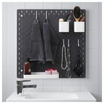 Настенная панель, комбинация СКОДИС черный артикуль № 692.960.18 в наличии. Онлайн магазин IKEA Беларусь. Быстрая доставка и соборка.