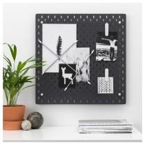 Настенная панель, комбинация СКОДИС черный артикуль № 792.960.08 в наличии. Онлайн каталог IKEA Минск. Быстрая доставка и монтаж.