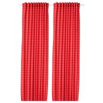 Затемняющие гардины, 1 пара РОЗАЛИЛЛ красный/белый артикуль № 604.251.66 в наличии. Интернет сайт IKEA Республика Беларусь. Быстрая доставка и монтаж.