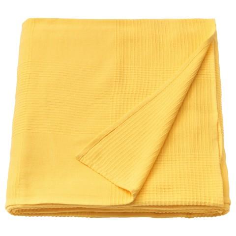 Покрывало ИНДИРА желтый артикуль № 104.294.78 в наличии. Онлайн сайт IKEA Республика Беларусь. Недорогая доставка и установка.