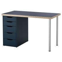 Стол ЛИННМОН / АЛЕКС серый артикуль № 993.039.89 в наличии. Онлайн магазин IKEA РБ. Быстрая доставка и монтаж.