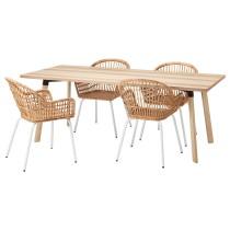 Стол и 4 стула ЮППЕРЛИГ / НИЛЬСОВЕ белый артикуль № 192.976.33 в наличии. Online каталог IKEA РБ. Недорогая доставка и соборка.