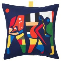 Чехол на подушку ОВЕРАЛЛЬТ разноцветный артикуль № 804.301.57 в наличии. Online сайт IKEA РБ. Быстрая доставка и соборка.