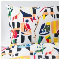 Пододеяльник и 2 наволочки ОВЕРАЛЛЬТ разноцветный артикуль № 004.302.84 в наличии. Онлайн сайт IKEA Минск. Быстрая доставка и монтаж.
