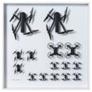 Настенное украшение, «дрон» белый 50×50 см IKEA ИКЕА АРТ-ИВЕНТ 2021 604.917.45